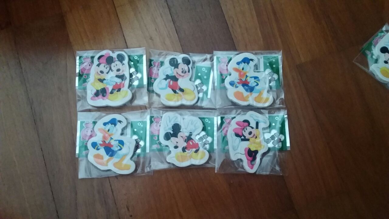 Mickey Eraser 6pcs per pack