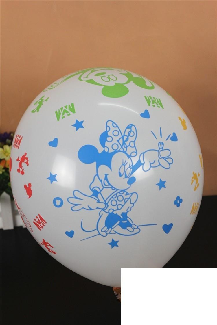 "12"" Mickey white Latex Balloons"