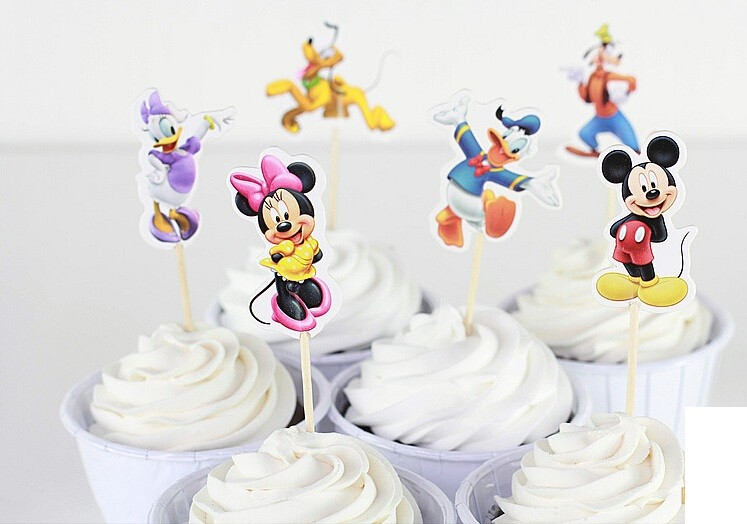 Mickey and Friends Cupcake Pics 12pcs