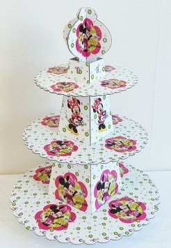 Minnie Mouse Birthday Cupcake Stand