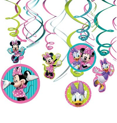 Minnie Mouse Swirl Decorations 12pcs
