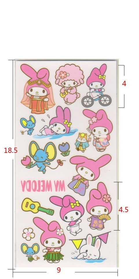 My Melody Tattoos 2pcs
