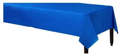 Royal Blue Plastic Table Cover 54in x 108in