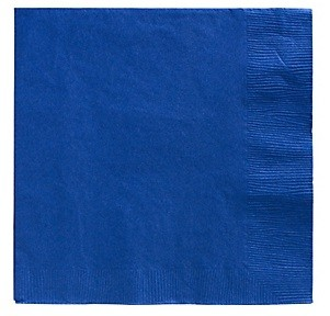 Royal Blue Beverage Napkins 50pcs