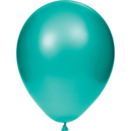 "12"" Pearl Teal Colour Latex Balloons"