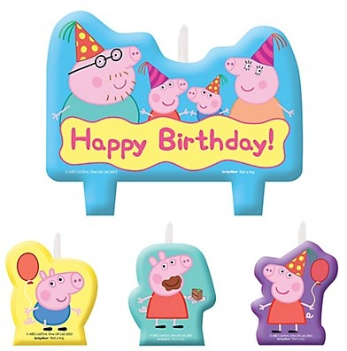 Peppa Pig Birthday Candles 4pcs