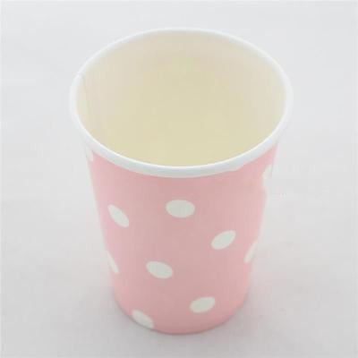 Polka Dot Pink Paper Cups 10pcs