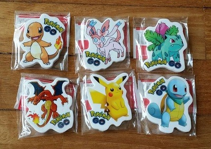Pokemon Eraser 6pcs per pack