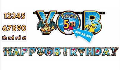 Pokemon Add An Age Birthday Banner