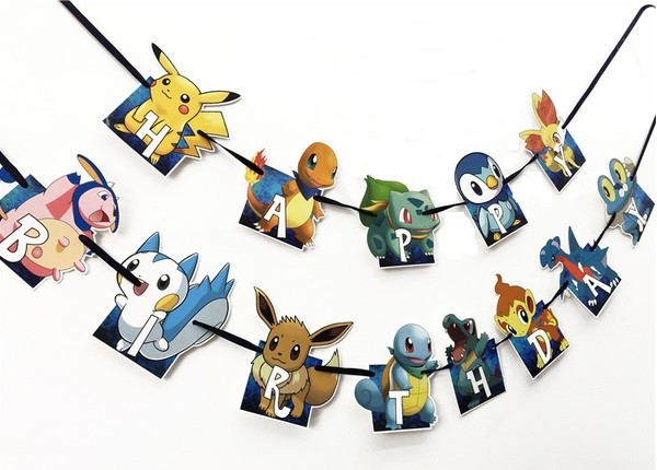 Pokemon Cutout Birthday Banner