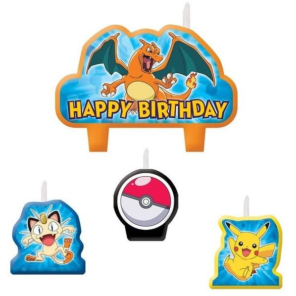 Pokemon Birthday Candles 4pcs