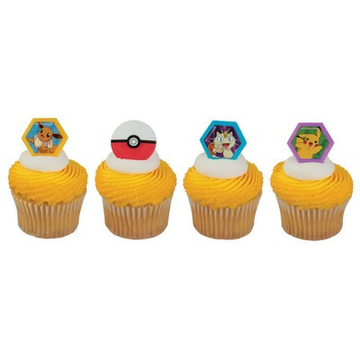 Pokemon Cupcake Rings 12pcs
