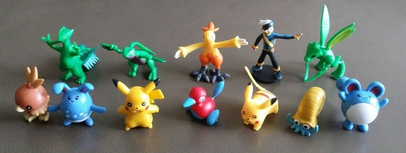 Pokemon Figure Cake Topper Set 10- 12pcs