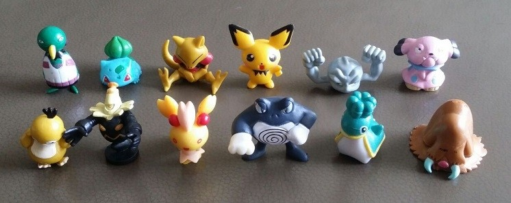 Pokemon Figure Cake Topper Set 4- 12pcs