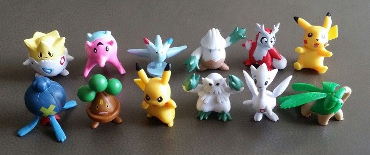 Pokemon Figure Cake Topper Set 9- 12pcs