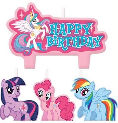 My Little Pony Birthday Candles 4pcs