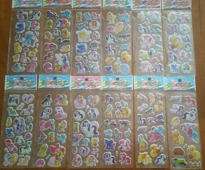 Little Pony Bubble Stickers, 6 sheets