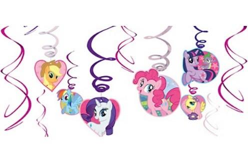 My Little Pony Swirl Decorations 12pcs