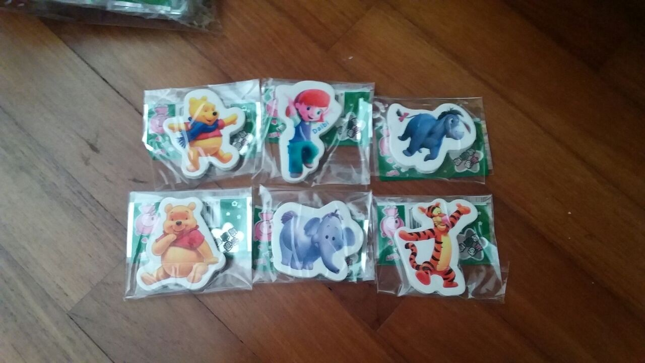 Winnie the Pooh Eraser 6pcs per pack