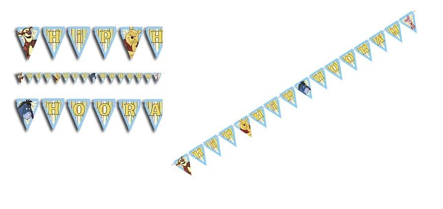 Pooh Hip Hip Hooray Plastic Banners