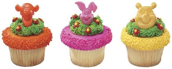 Winnie the Pooh Birthday Cupcake Cake Favor Rings