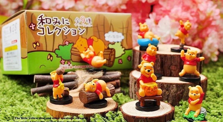 Winnie Pooh 9pcs Figurines Cake Topper