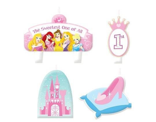 Disney Princess 1st Birthday Candles 4ct