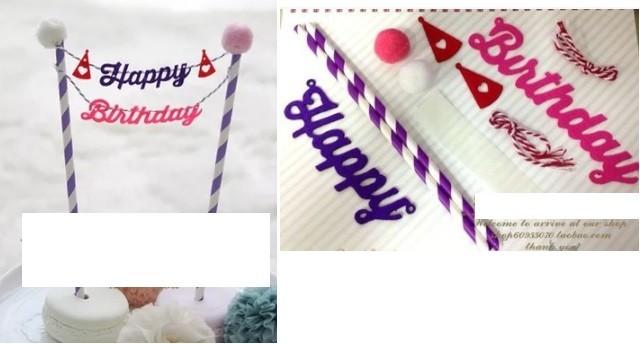 Purple Cake Banner