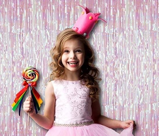 Rainbow Iridescent Foil Curtains