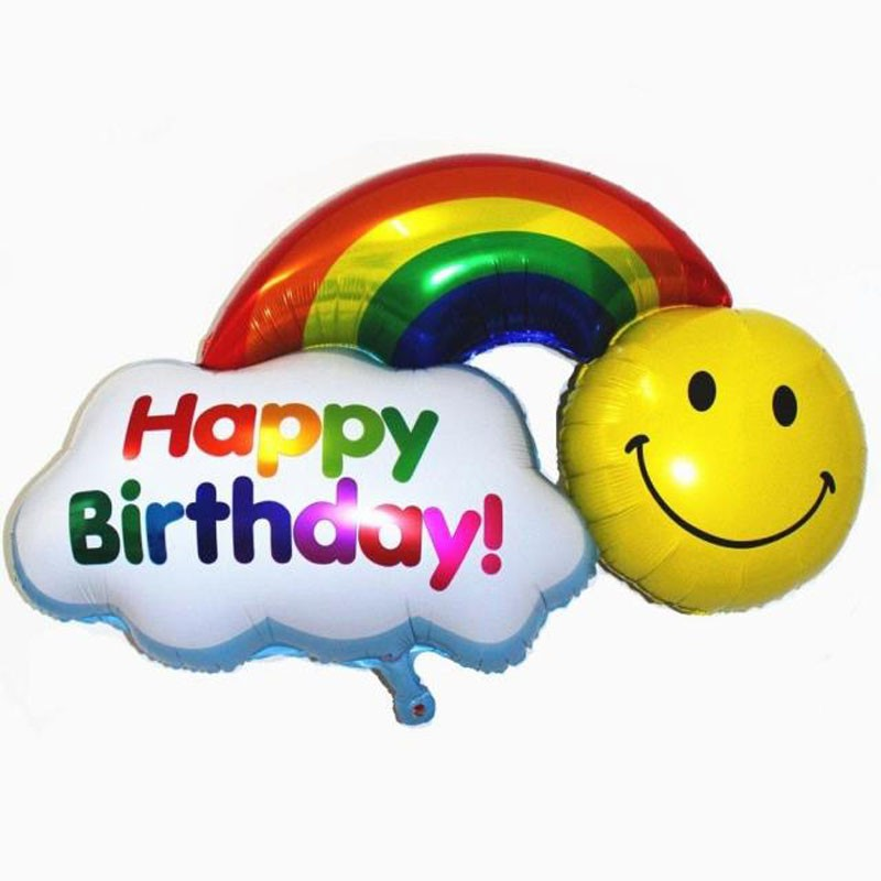28in Rainbow Happy Birthday Foil Balloon