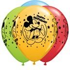"11"" Qualatex Mickey Happy Birthday Assortment"