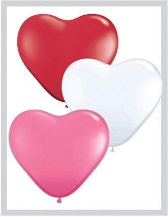 "12"" Heart Shape Assorted Latex Balloons"