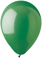 "12"" Standard Green Colour Latex Balloons"