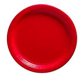 Red Paper Dessert Plates 25pcs