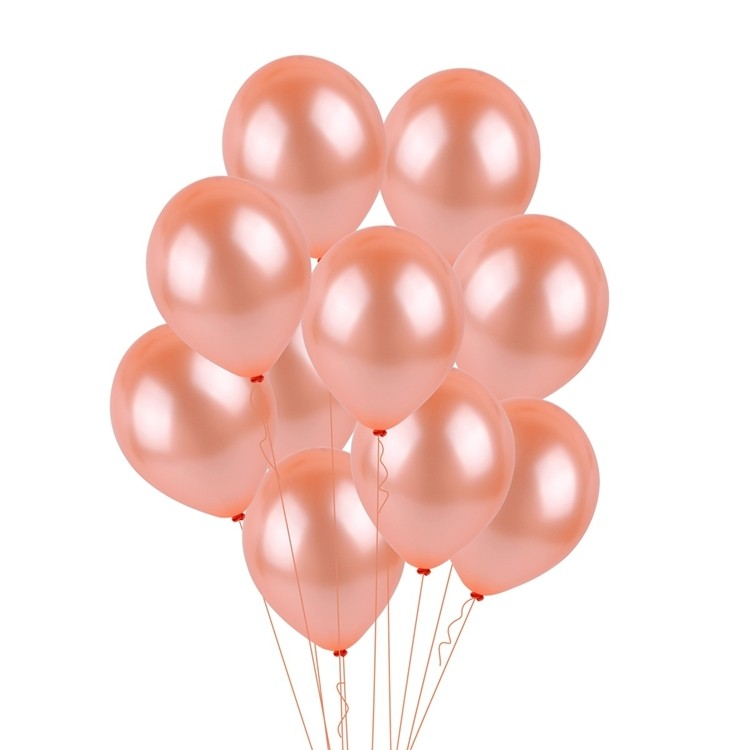 12in Pearl Rose Gold Latex Balloons