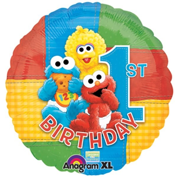 "18"" Sesame Baby 1st Birthday Foil Balloon"