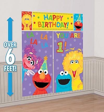 Sesame Street 1st Birthday Scene Setter