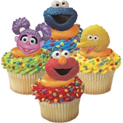 Sesame Street Cupcake Favor Rings