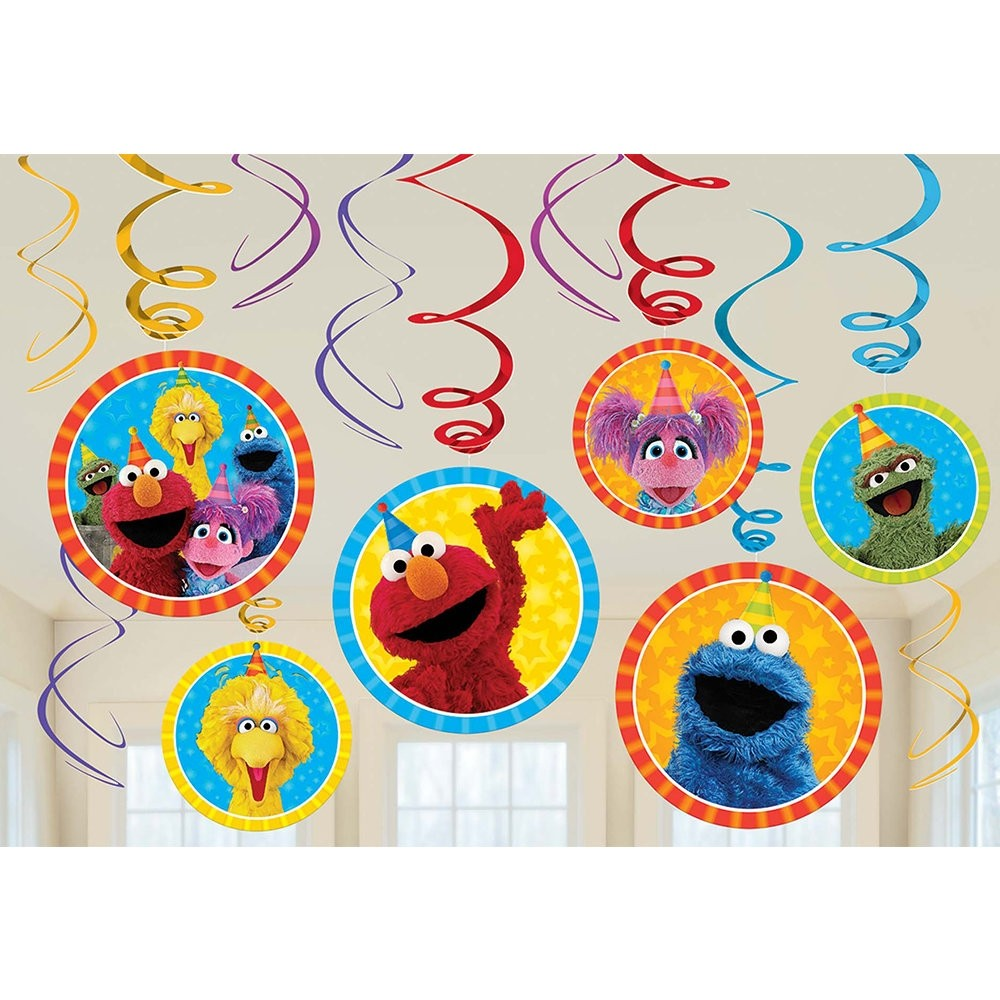 Sesame Street Swirl Decorations 12pcs