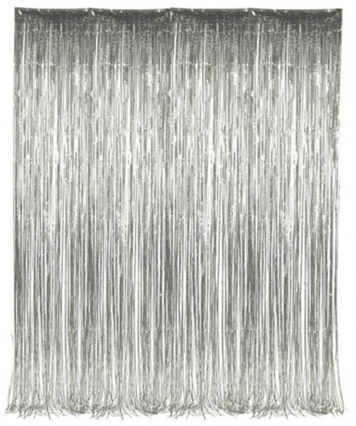 Silver Streamer Foil Curtains