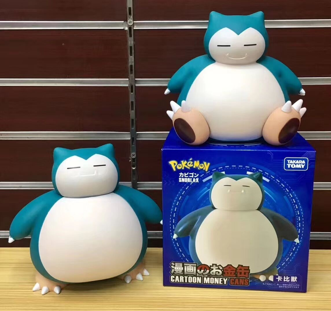 Snorlax Coin Bank Cake Topper Figures