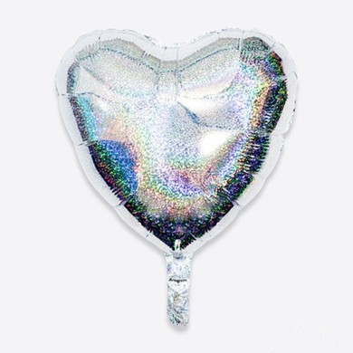 "18"" Silver Sparkle Heart Balloon"