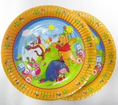 Pooh Paper Plates