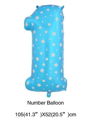 "40"" Blue with Star Megaloon 1 Balloon"