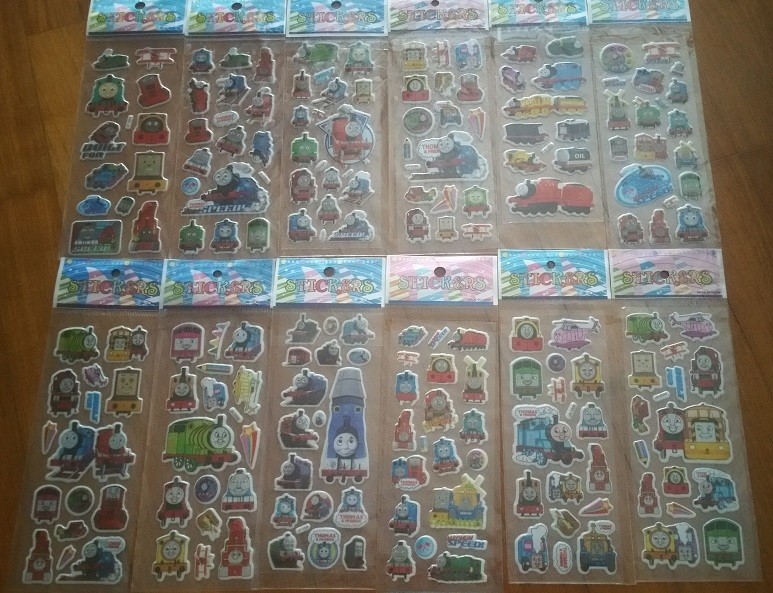 Thomas Bubble Stickers, 6 sheets