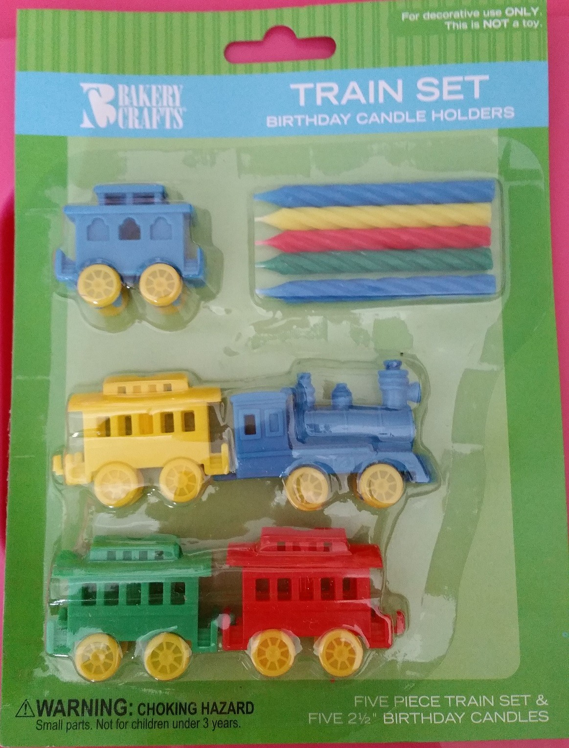 Train with Candle HOLDER Birthday Party Circus
