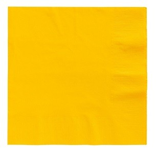 Sunshine Yellow Beverage Napkins 50pcs