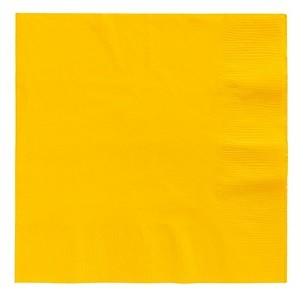 Sunshine Yellow Beverage Napkins 50pcs