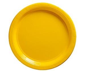 Sunshine Yellow Paper Dessert Plates 50pcs