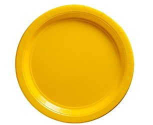 Sunshine Yellow Paper Dessert Plates 25pcs
